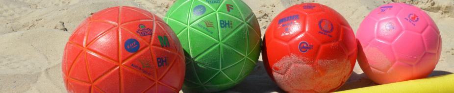 Balonmano playa - Balones y líneas de campo
